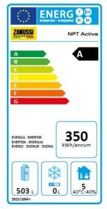Energy Label Zanussi Professional Refrigeration
