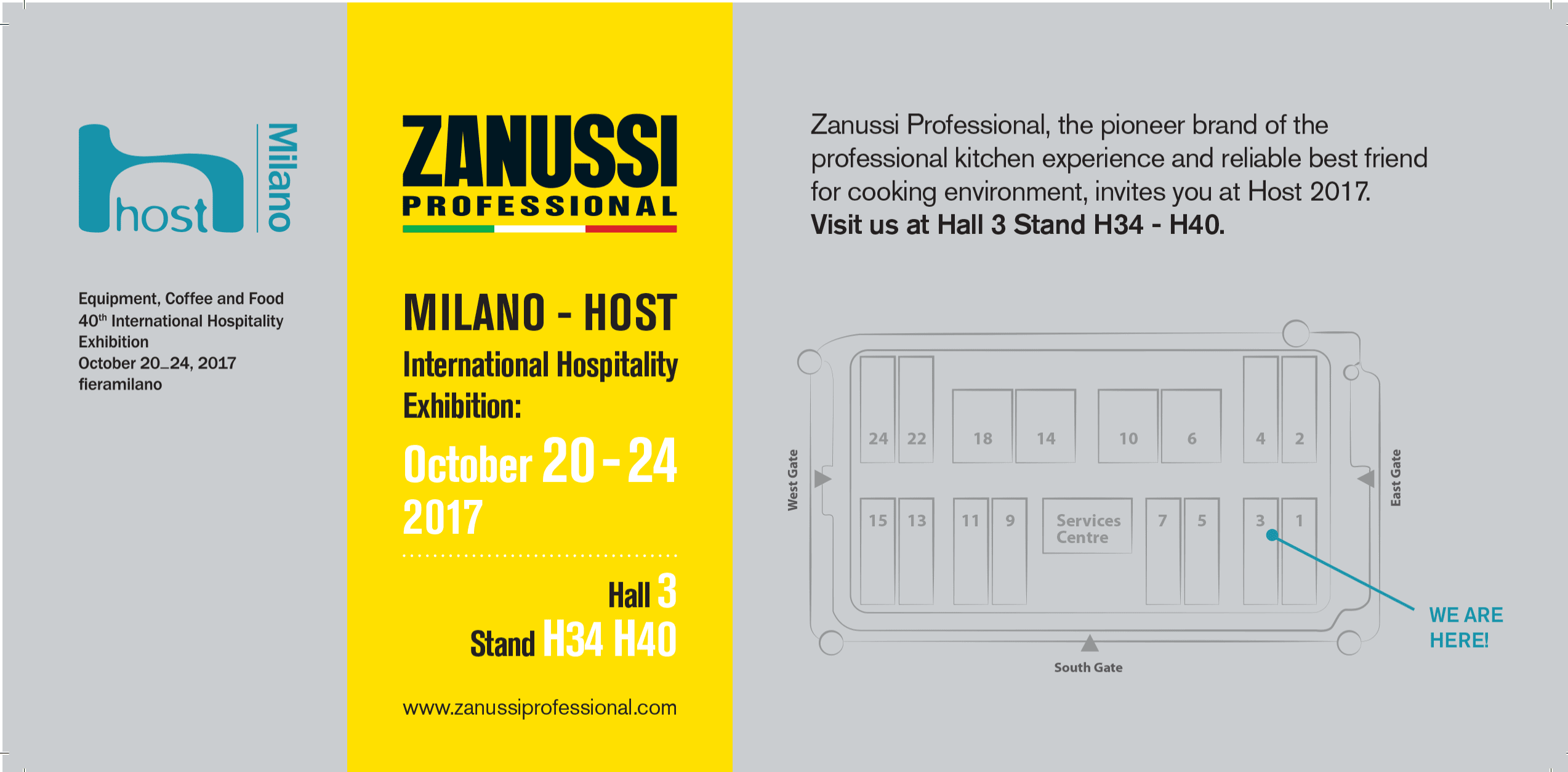 Invitation HOST 2017 - Zannussi Professional